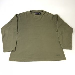 Patagonia Synchilla green fleece sweater medium